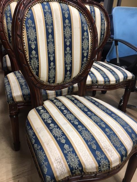 木製布青椅子2
